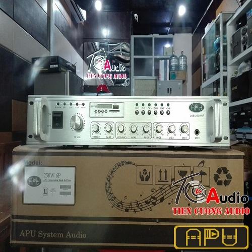 Amply APU USB 250W phân 6 vùng, công suất 250W